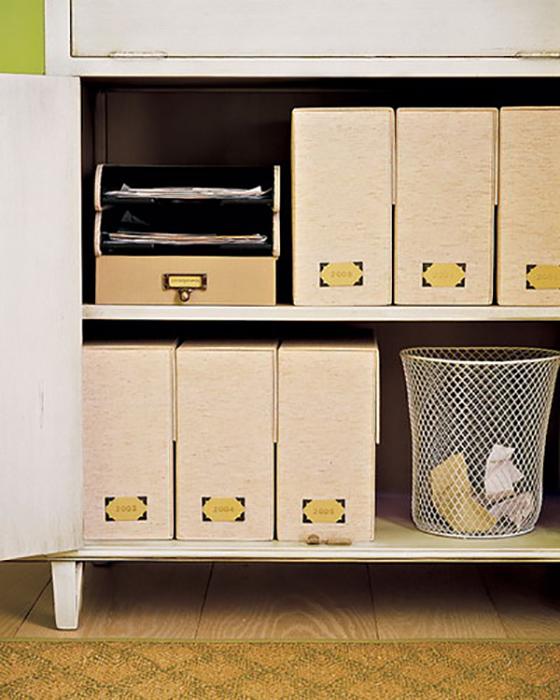Декоративные коробки для сортировки.