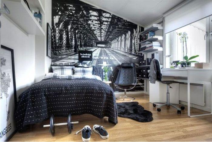 Фотообои визуально увеличивают пространство комнаты.