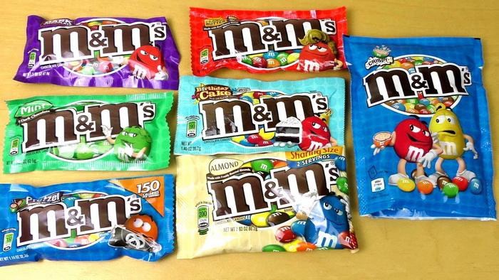 M&M'S - любимые сладости детей и взрослых.