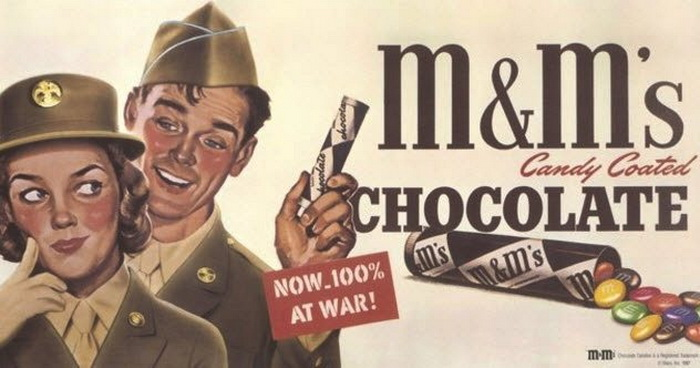 Конфеты M&M'S, которые не тают в жару, были придуманы для военных в 1941 г.