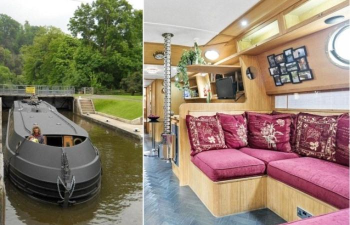 Роскошный плавающий дом построен семьей пенсионеров.