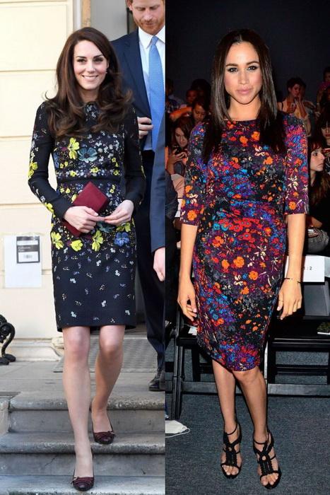 Строгие платья с цветочными принтами.
