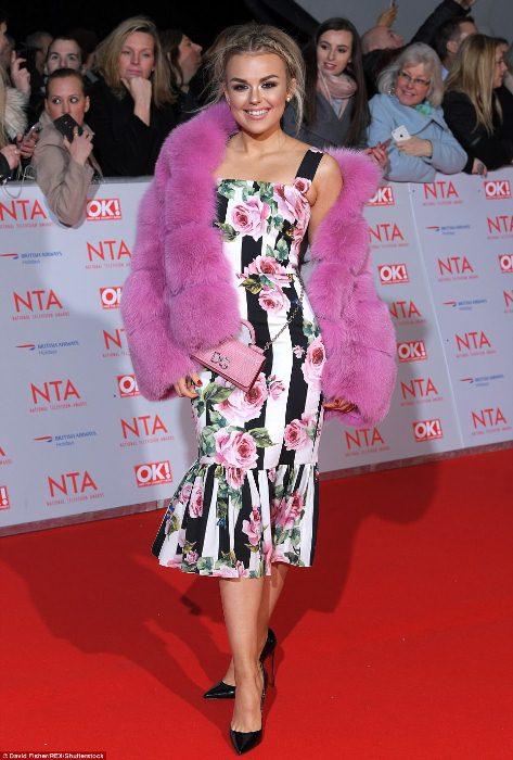 Талиа Сторм на вручении телевизионной премии National Television Awards.