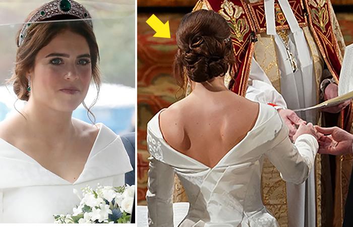 Принцесса Евгения отказалась от свадебной фаты, и теперь все обсуждают ее голую спину