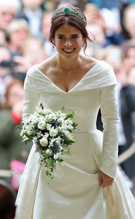 Очаровательная принцесса Евгения в день свадьбы.