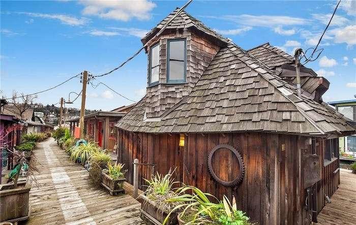 Дом на воде в Сиэтле.
