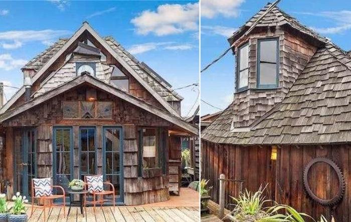 Плавучий дом в Сиэтле.