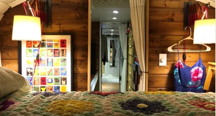 Спальня в автобусе.