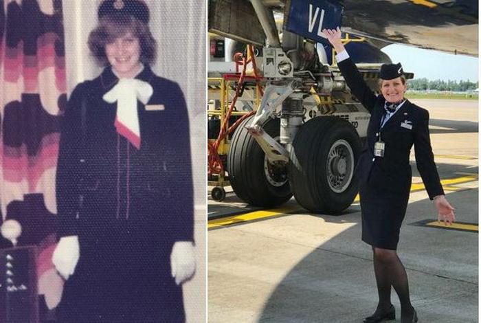 Женщина была стюардессой Британских авиалиний на протяжении 41 года.