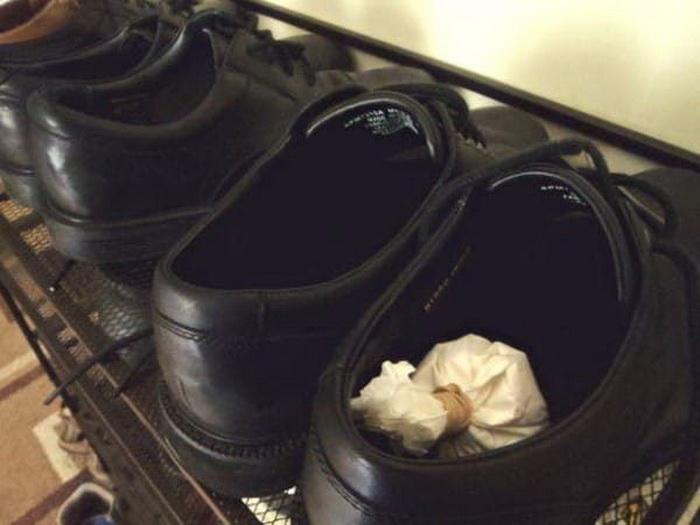 Применение фильтров для сушки обуви.
