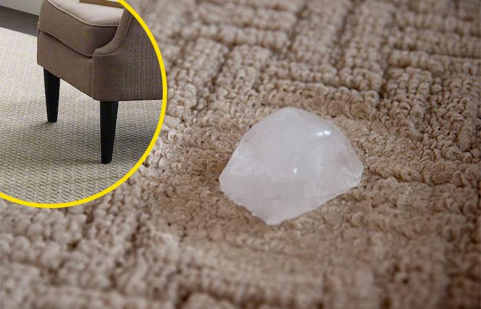 Как избавиться от вмятин от мебели на ковре