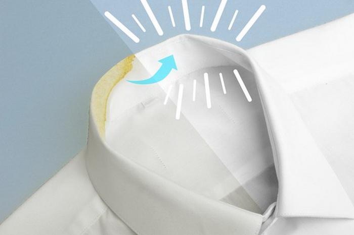Мел можно использовать для стирки воротничка рубашки.