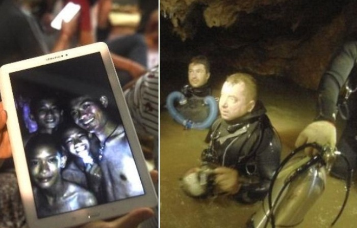 Международная операция по спасению детей из затопленной таиландской пещеры.