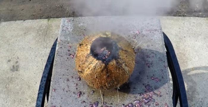 Раскаленная медь внутри кокоса.