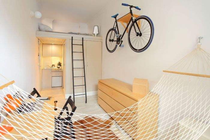 Дизайн квартиры площадью 13 кв.метров.