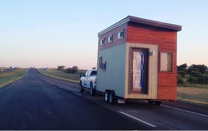 Дом на колесах подходит для путешествий.