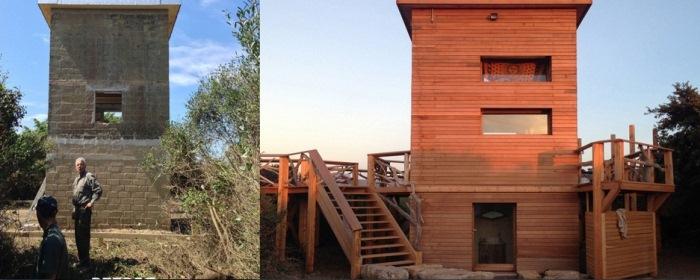 Отреставрированный дом: до и после.