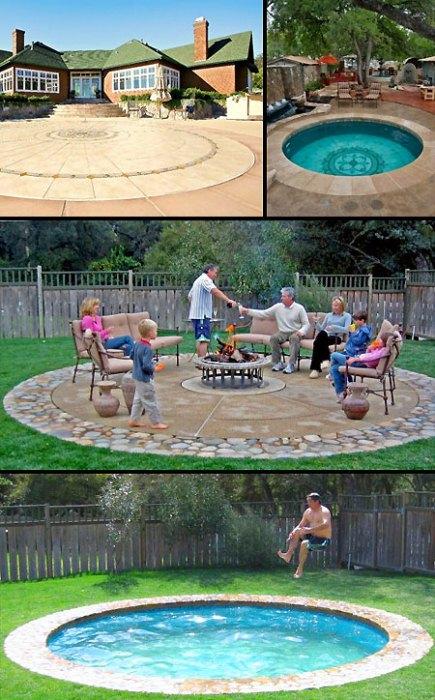 Два в одном: площадка для пикника и бассейн.