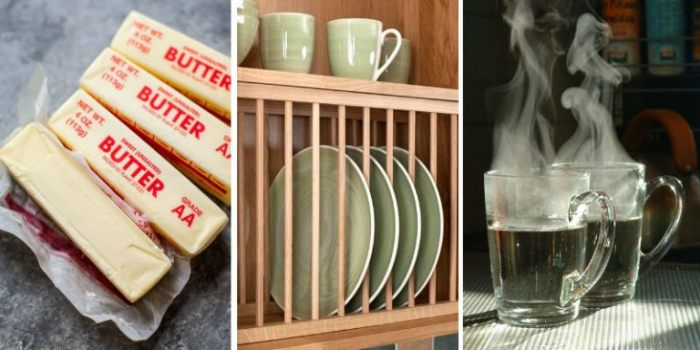 Масло, чашка, кипяток: Как размягчить сливочное масло.