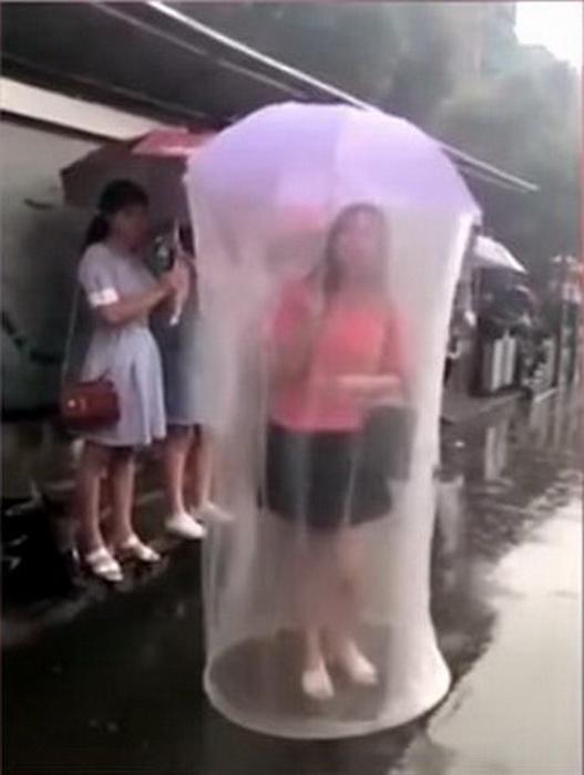 Зонт и чехол с максимальной защитой.