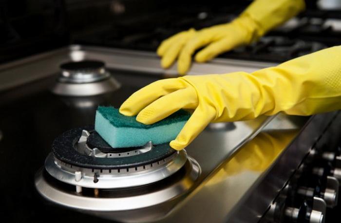 Как почистить газовую плиту.