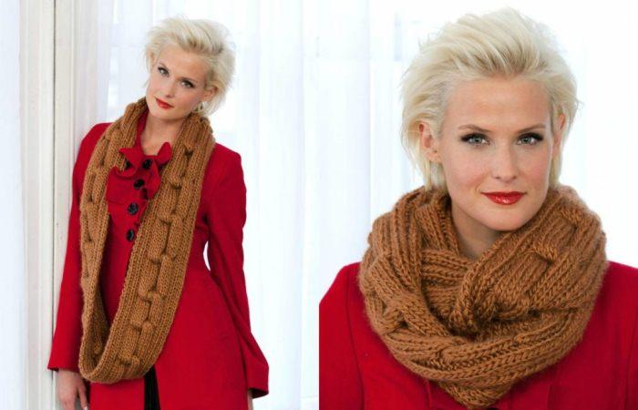 Как носить шарф-снуд: 7 простых способов.