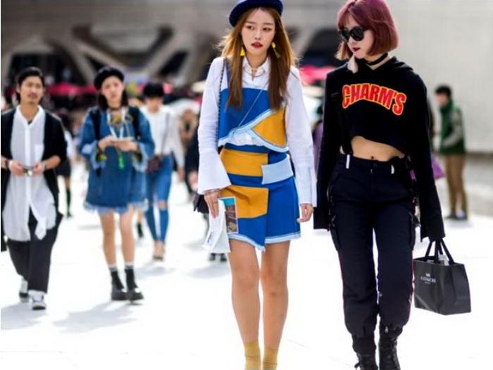 Модная молодежь в Южной Корее.