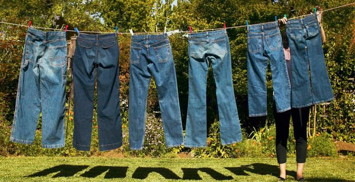 Правильная сушка джинсов.