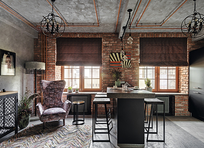 Квартира Кристины Орбакайте в стиле лофт.