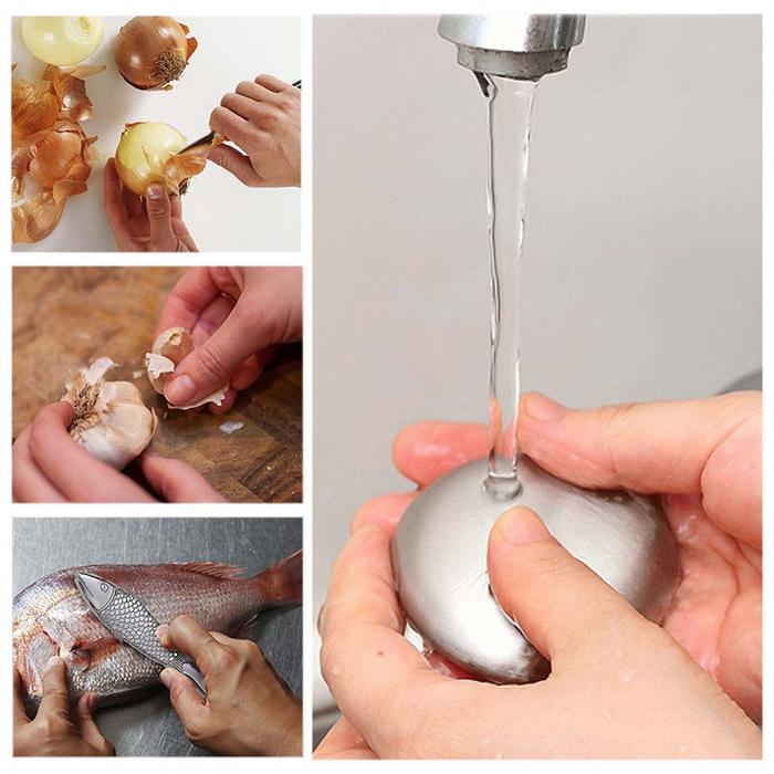 Металлическое мыло помогает избавиться от различных запахов на руках.