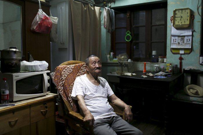 Квартира китайского старика Ван Чунчун.