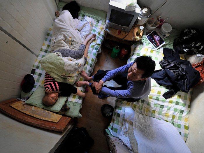 Комнаты, которые заменяют больничные палаты в Хэфэе.