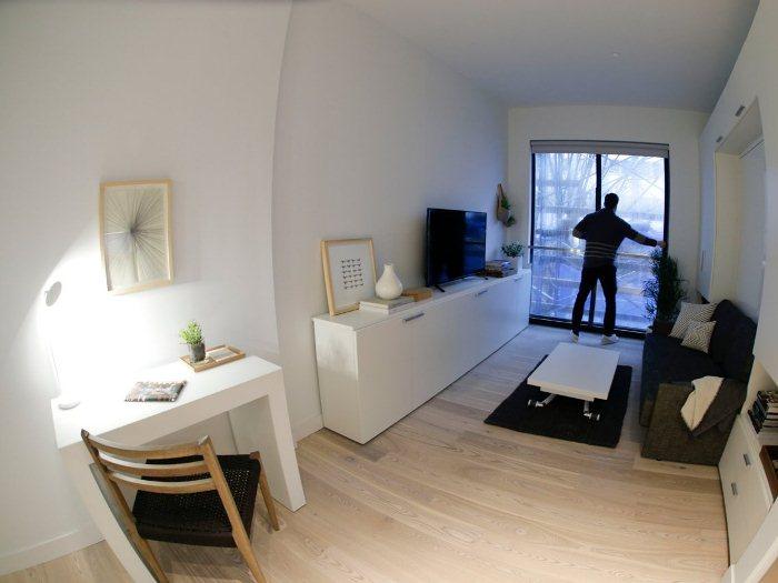 Мини-квартира нового поколения в Нью-Йорке.