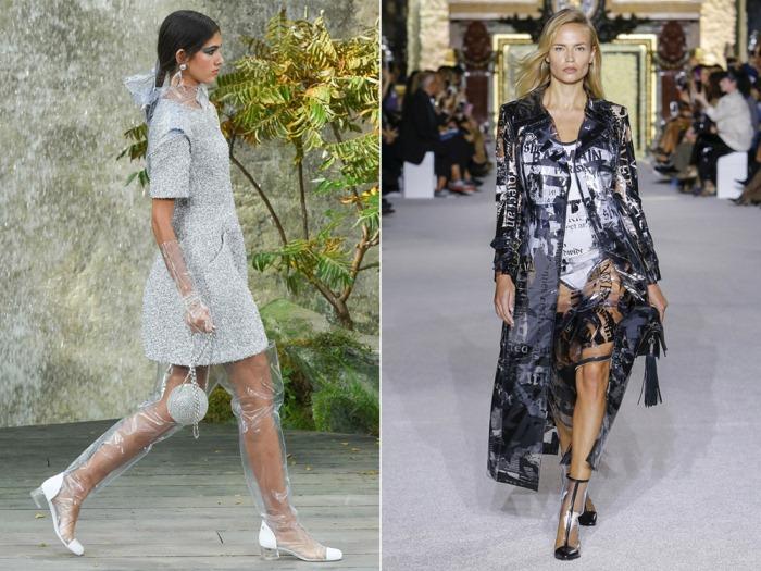 Одежда из пластика становится все популярнее среди дизайнеров.