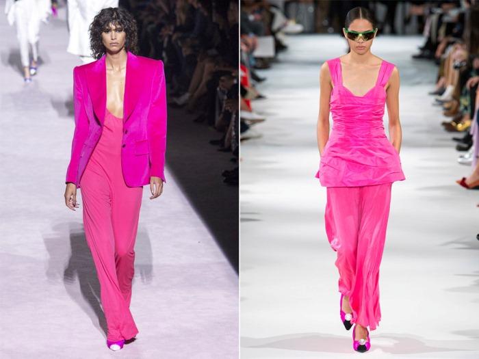 Розовый total look.