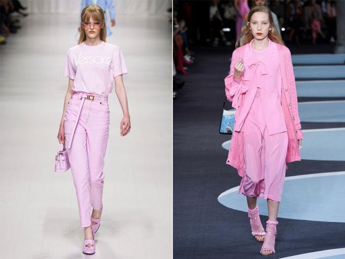 Нежно-розовый total look от Versace.