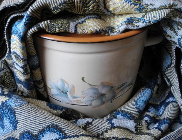 *Термос* из старых покрывал и одеял.