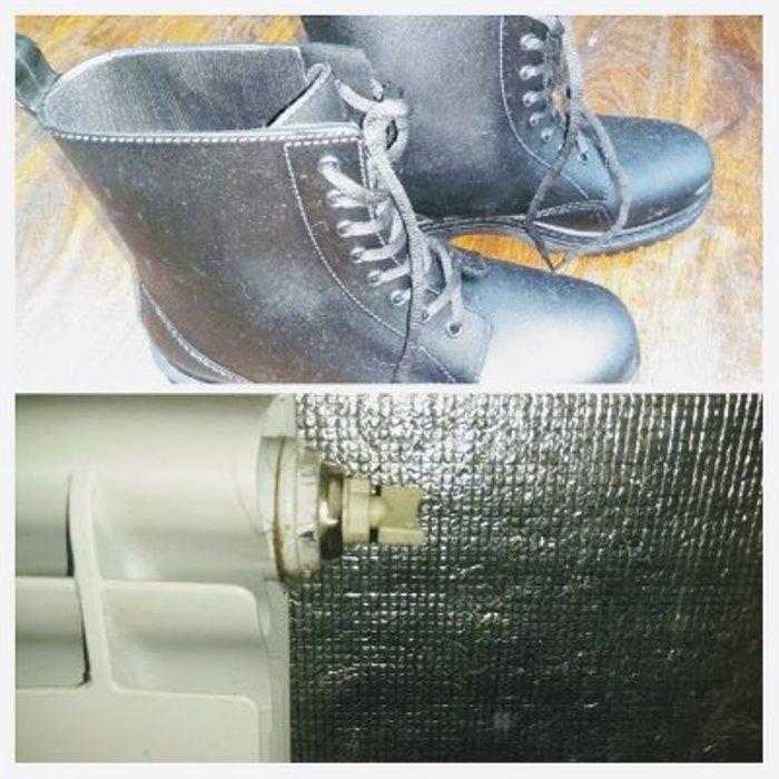 Стелька из фольги защищает ногу от переохлаждения.