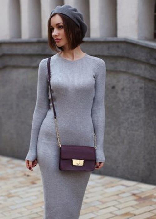 Тонкое трикотажное платье - только для обладательниц идеальной фигуры.