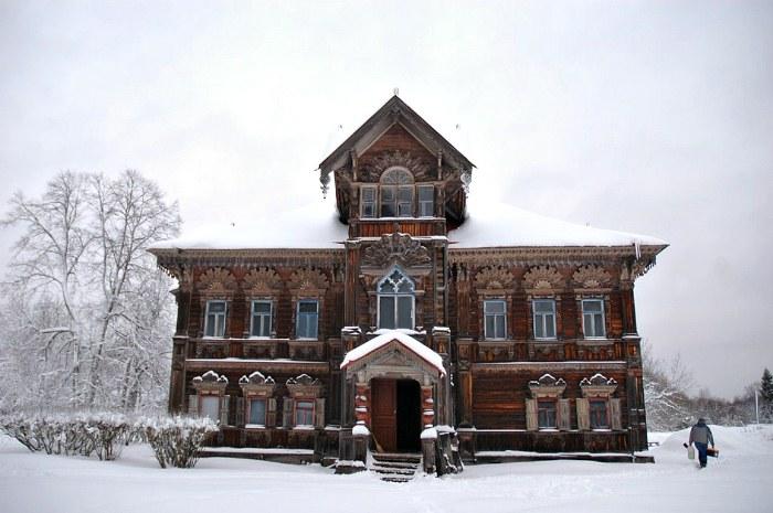Зимний пейзаж в деревне Погорелово.