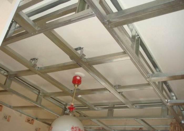 Подвесной двухуровневый потолок своими руками.