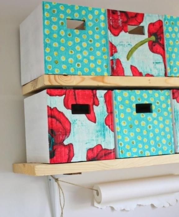 Декоративные коробки для хранения ненужных вещей.
