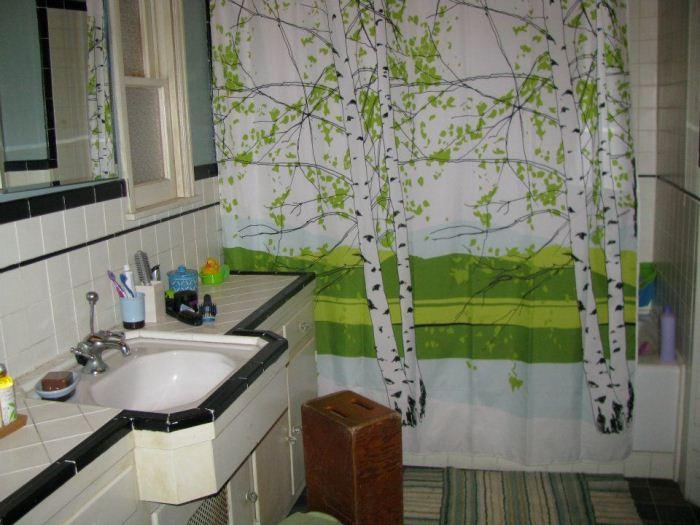 Оригинальная занавеска для ванной.