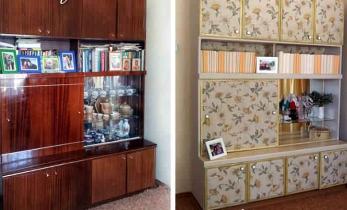 Старый советский шкаф: до и после.