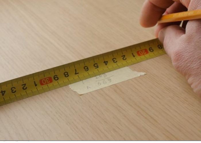 Измерение слишком длинного предмета.