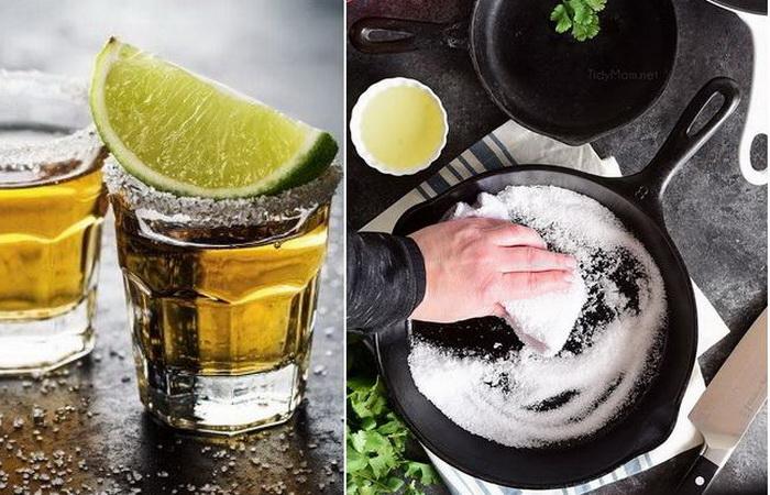 Трюк текилы, или Как использовать в хозяйстве соль с лимоном.