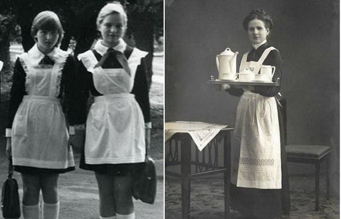 Почему форма советских школьниц выглядит, как униформа горничных.