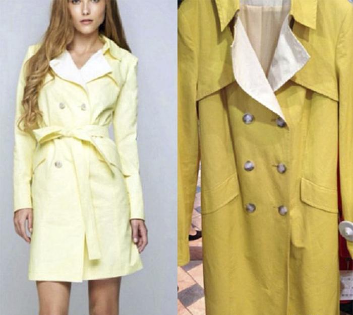 Отличие цвета и отсутствие пояса - и пальто выглядит уже совсем по-другому.