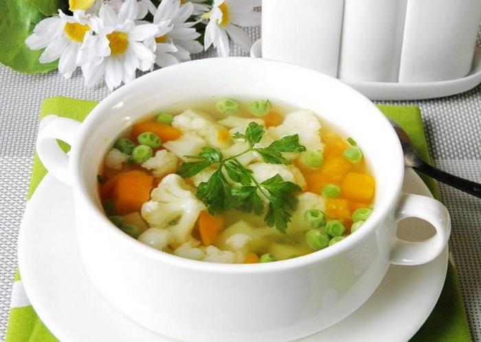 Добавляйте минимум специй в овощной суп.