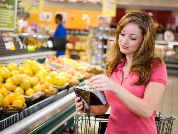 Перед походом в магазин составляйте список необходимых продуктов.